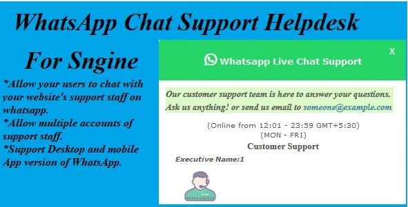 WhatsApp Chat Support Helpdesk