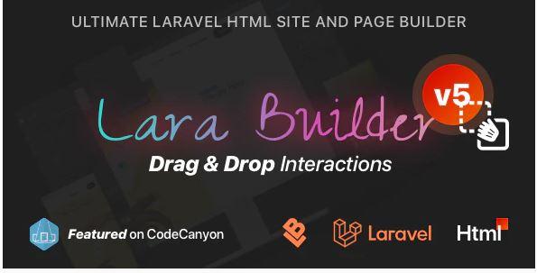 Laravel Drag&Drop SaaS HTML site builder